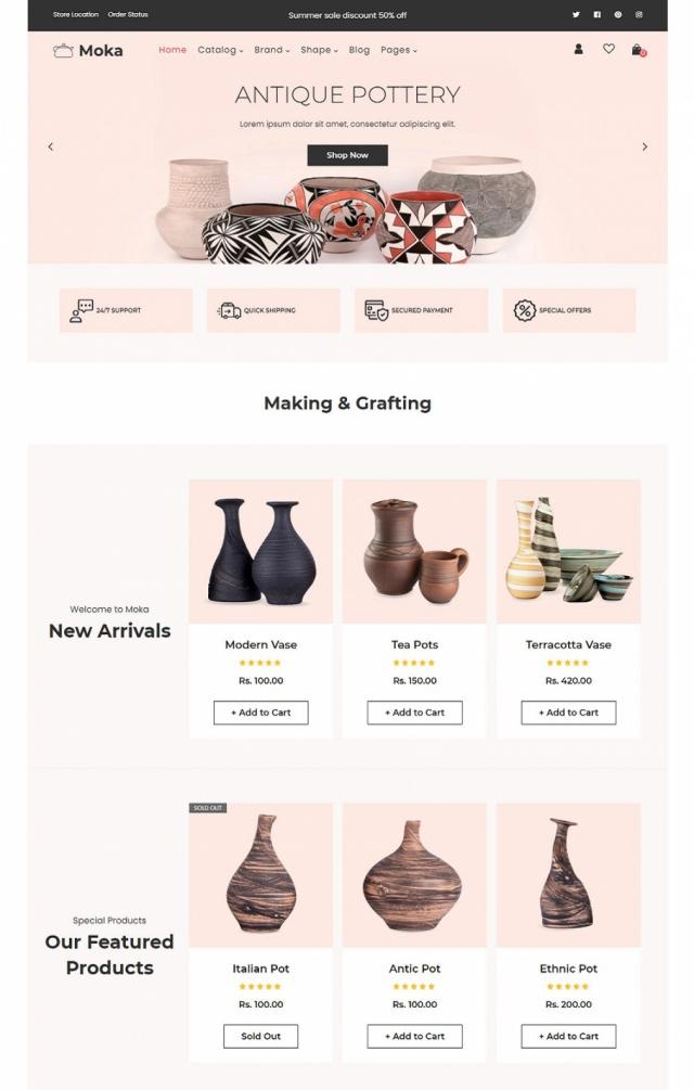 Mẫu web bán đồ thủ công mỹ nghệ đẹp